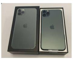 Apple iPhone 11 Pro 64GB  = 500 EUR,  iPhone  11 Pro Max 64GB = 530 EUR ,iPhone XS 64GB = €350